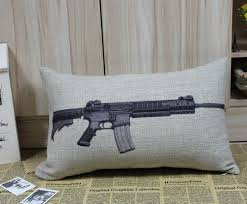 Military Home Decorations by Online Get Cheap Gun Pillow Aliexpress Com Alibaba Group