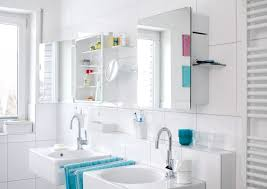 Cool Bathroom Storage Ideas by Bright Bathroom Interior Decoration With Amazing Twin Mirror