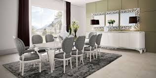 jetclass capri dining room in grey with divided mirror home