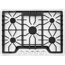 Sealed Burner Gas Cooktop Frigidaire Gallery 30 In Gas Cooktop In White With 5 Burners