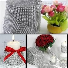 diamond mesh ribbon 10 yards roll 24 rows diamond mesh rhinestone wrap shiny