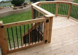 gate for above ground pool deck with gothic picket fence styles