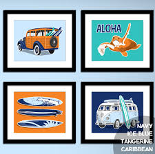 volkswagen van with surfboard clipart surf wagon vw surf bus beach childrens teen wall art custom