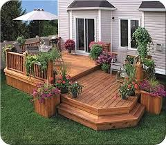 Backyard Deck Design Ideas This Two Level Deck Design Creates An Area And A Sitting