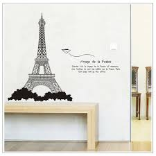 eiffel tower paper plane wall decal removable sticker for living
