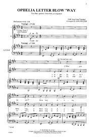 ophelia letter blow way two part by walte j w pepper sheet music