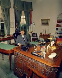 Kennedy Oval Office by President John F Kennedy At His Desk In The Oval Office 1962 New