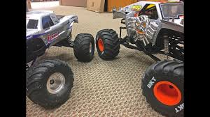 bigfoot monster truck youtube traxxas bigfoot u0026 axial smt10 max d tests trigger king r c