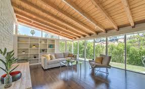 Modern Two Storey House With Streamline Roof by Mid Century Modern Architecture Real Estate Sunset Strip
