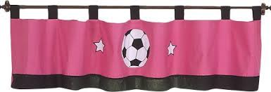 Soccer Curtains Valance Soccer Pink 84 Window Valance Gifts Pinterest Valance And