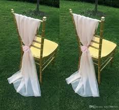 chiffon chair sash blush pink chiffon chair sashes with flowers floor length ruffles
