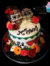 day of the dead wedding cake eternal wedding theme cake of day of the dead cake by
