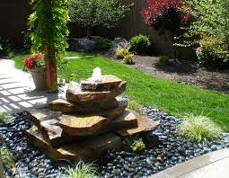 garden water fountains ideas home latest small natural stone