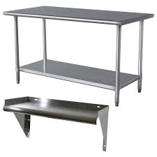 stainless steel work table and shelf walmart com