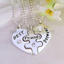engraved jewelry engraved best friends forever necklaces for 3 personalized