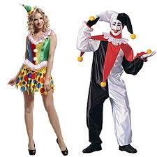 his and hers costumes hde his hers party clown couples costumes go