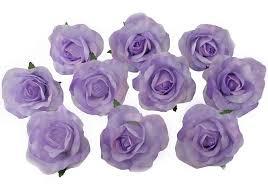 lavender roses 10 lavender heads silk flower wedding reception