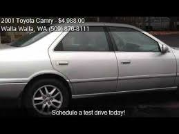 toyota camry xle for sale 2001 toyota camry xle v6 for sale in walla walla wa 99362 a