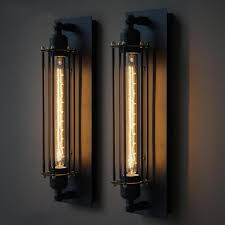 industrial wall sconce lighting long pencil bulb industrial retro wall light bulbs industrial and