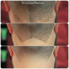 women haircut tapered neck behind ear the neck taper