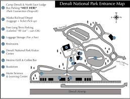 Alaska Railroad Map by Travel Logistics Camp Denali