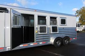 Slide Out Awning 2018 Exiss 7410 10 U0027 Sw Lq W Slide Out 4 Horse All Aluminum
