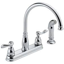 kitchen faucet with side spray delta windemere handle kitchen faucet with side spray