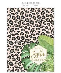glam safari jungle baby shower invitation tropical leaves
