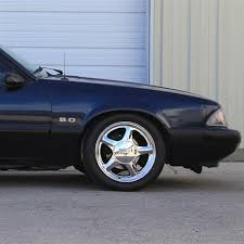 mustang pony wheels pony wheel tire kit 16x7 chrome 79 93 sumitomo htr