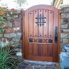 designer wood gates garden passages
