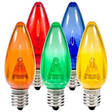 led c9 multi replacement light bulbs