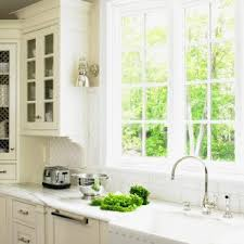 Kitchen Window Treatments Ideas Pictures Window Kitchen Cabinet Design With Granite Countertops And