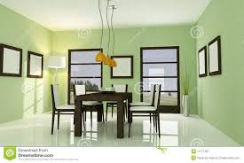 white and green dining room stock illustration image 82176181