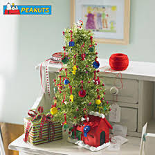 peanuts snoopy tabletop tinsel advent tree betterimprovement