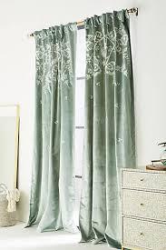 Braided Velvet Curtain Blue Curtains U0026 Drapes Anthropologie