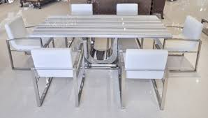 White Marble Dining Tables Uscio Iv Marble Dining Table 79quot White Lines To Modern White