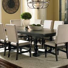 Steve Silver Dining Room Furniture Leona Cottage Rectangular Antique Black Dining Table With 18 Leaf