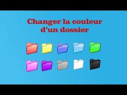 changer icone bureau tuto modifier la couleur de ses dossiers fr hd