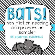 freebie a free non fiction comprehension passage about bats that