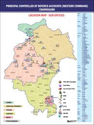 Punjab India Map by Principal Controller Of Defence Accounts Western Command Chandigarh
