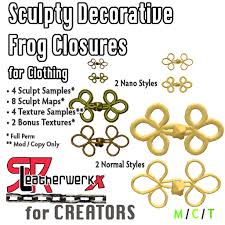 Decorative Frogs Second Life Marketplace Srl Sculpty Decorative Frog Closures Box