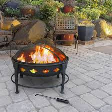 Wood Firepits Ember Rubbed Bronze Crossweave 36 Inch Wood Burning Pit