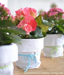 Shabby Chic Garden by Easy Shabby Chic Garden Pots Town U0026 Country Living