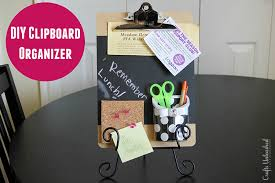 Diy Desk Organizer Ideas Diy Clipboard Homework Organizer Idea Crafts Unleashed