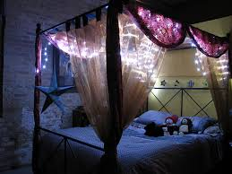 Purple Bed Canopy Bedroom Canopy Bed With Light And Curtain Also Bedroom