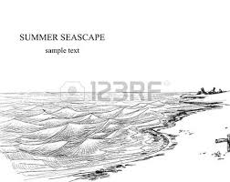 summer seascape sketch royalty free cliparts vectors and stock