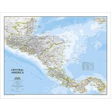 Map Of South And Central America Central America Classic Wall Map National Geographic Store