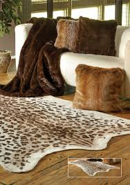 Calf Skin Rug Decorating Chic Faux Animal Skin Rugs With Sofas And Wooden