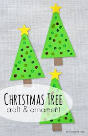 q tip painted tree craft ornament the resourceful