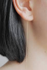 staple earrings goods vagabond whitaker staple and chain earring